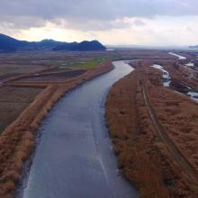 Confluence between Dongchean and Yisacheon rivers
