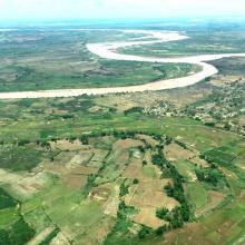 Les plaines alluviales au bord du fleuve Tsiribihina