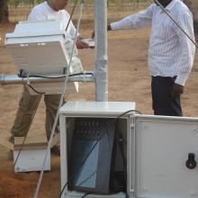 Installation d'une station agro-météorologique par le Projet REP-Sahel par l'OSS