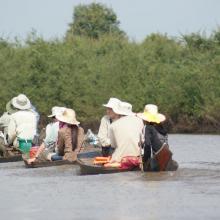 Tourist visit to Prek Toal Ramsar site