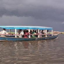 Ramsar field excursion across the Lagune de Porto-Novo
