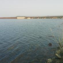 Vue de la cuvette du barrage