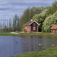 Erik Rosenberg´s cottage, at Oset.