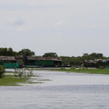 Flooding house in Stung Sen Ramsar Site