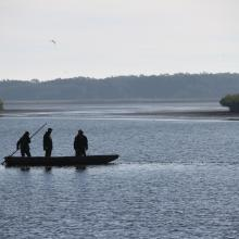 Fishermen in Milicz Fishponds