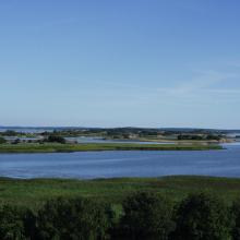 View from the bird observation Tower towards Løvøya