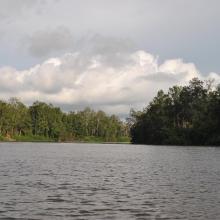 Chenal sur le fleuve Nyanga