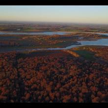 Vue aérienne du site Ramsar (PNRFO)