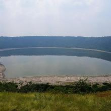 Landscape of Lonar Lake