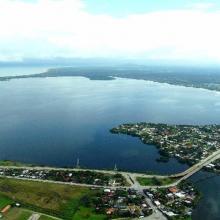 Laguna de Alvarado vista aérea