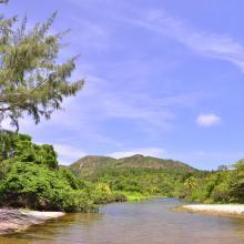 Desembocadura de rió en Playa El Soldado