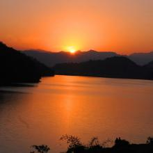 Sunset in Begnas Lake