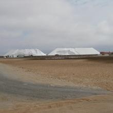 The Walvis Bay salt works are within the Ramsar site.
