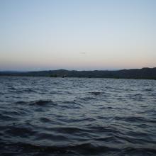 lac Alaotra au crépuscule