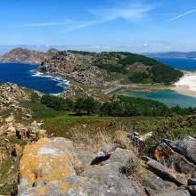 Isla de Cíes. Laguna costera