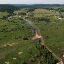 Marais du Châtelet après reméandrement de la Lemme - Grandvaux