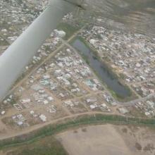 Vista aérea de Tarimoya. Enero 2004.