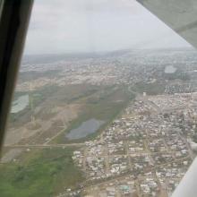 Vista aérea de Las Conchas y Tarimoya. Enero 2004.