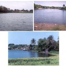 Laguna El Caracol en diferentes épocas del año
