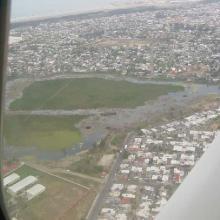 Foto aérea de Laguna Lagartos Enero 2004.