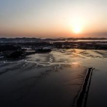 Sunset in the Daebudo Tidal Flat