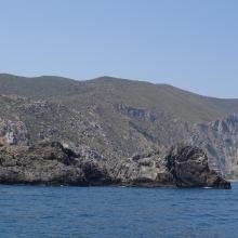 Paysage du littoral marin à l'extrémité orientale du Parc