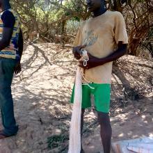 Photo 2: Engins de pêche utilisés dans le site Ramsar