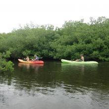 Canoeing at Lac Baai