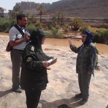 Visiteur de la vallée d'Ihrir