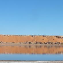 Photo du lac inférieur du site El Melah