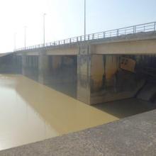 Vanne pour évacuation du trop plein d'eau du barrage