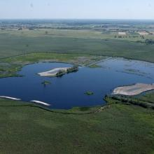 The wetland restoration site at Lake Kolon