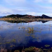 Marjal de Almenara. Panorámica de las lagunas someras