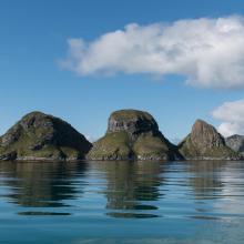 Røstøyan. The island Trenyken.