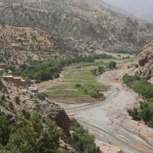 Oued Lakhdar : cultures irriguées en plein lit majeur de la rivière