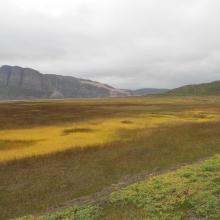 Tanamunningen Nature Reserve, view of the mountain Giemaš.