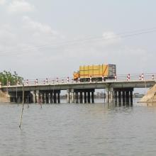 Pont entre le Lac Ahémé et le Chenal Aho sur la Route Nationale Inter Etat Cotonou-Lomé