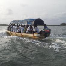 En route pour la visite de l'Aire Communautaire de Conservation de la Biodiversité de la Bouche du Roy à Grand-Popo