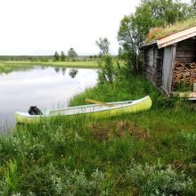 Several old cabins and shanties can be found along the delta.