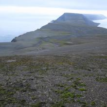 Iversenfjellet, view north