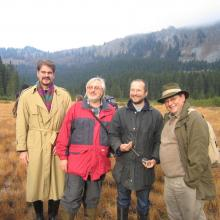 [from left] Gerhard Sigmund (Ramsar Coordinator in the Ministry of Environment), Gert Michael Steiner (Institute of Ecology and Conservation Biology, University of Vienna), Reinhold Turk (Environment Ministry of Styria), Gerald Plattner (Nature Protection Unit of the Austrian Federal Forests-ÖBf AG)