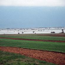 The pastures and meadows flooded on April 17th, 2004, allow an estimate of water level of up to 1,5 m, and form a natural periodic karst lake (flooded area) of 230 km2  Figure 1 Route: Lusnic – Celebic – Donji Kazanci