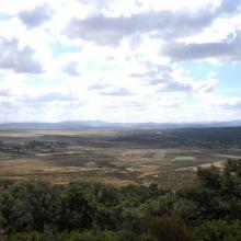 la garaâ sejenane vue de haut de plaine
